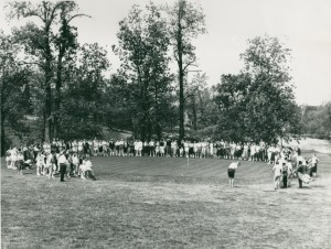 Golf exhibition at the WC course, 1959