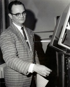 Dr. Roscoe Allen in the Administrative Computer Center