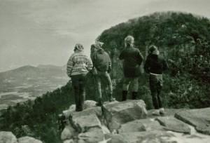 Outing Club trip to Pilot Mountain, NC, 1967