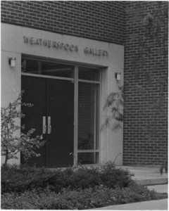 Entrance to the Weatherspoon Art Gallery in the McIver Building, 1967