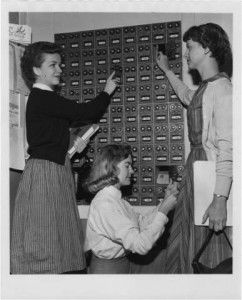 Campus post office boxes, 1959