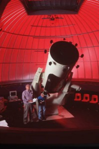 Telescope inside the Three College Observatory, 2000