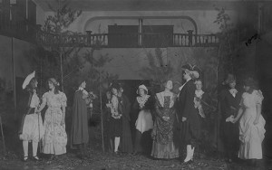 Photo from the play The Rivals, hosted by the Adelphian Literary Society, 1913