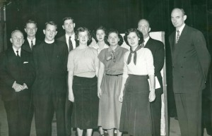 Student leaders and speakers at Religious Emphasis Week, 1950