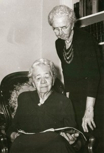 Mary and Annie (standing) Petty, 1952