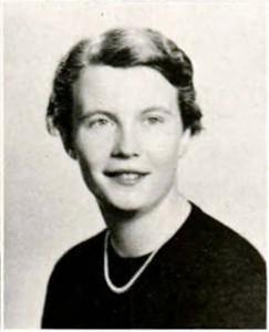 Maud Gatewood's senior yearbook photograph, 1954