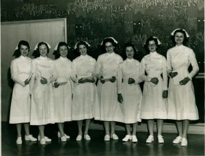 First graduating class of the Department of Nursing Education, 1959