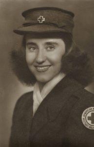 Emily Harris Preyer in her Red Cross uniform